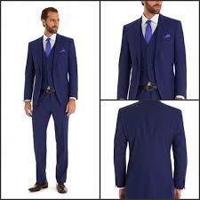 mens suits for weddings blue suit slim fit groom tuxedos side vent peaked lapel groomsmen