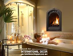 cozy bathroom ideas this is cozy interior bathroom with fireplace designs read now