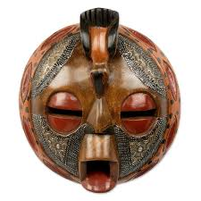 wall masks novica victor dushie circular crafted and painted west