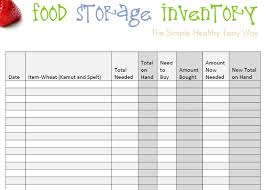 Simple Inventory Sheet Template Food Inventory Template The Service Restaurant