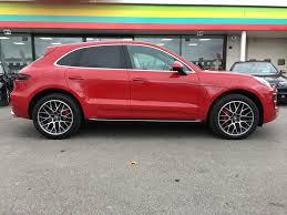Porsche Macan Red - used porsche macan turbo 5dr pdk 5 doors estate for sale in exeter