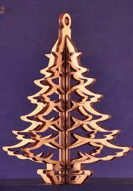 3 d wood tree ornament