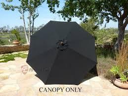 8 Patio Umbrella Market Patio Umbrella Replacement Cover Canopy 8 Ribs Black