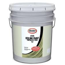 Washable Ceiling Paint by Glidden 1 Gal Bright White Interior Flat Ez Track Ceiling Paint