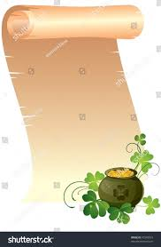 st patricks day background scroll pot stock vector 47243023