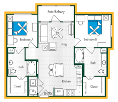 Aspen Heights Floor Plan by The Domain At Waco Waco U0026 Baylor Campus Area Apartments Bear