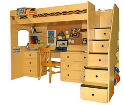 bunk bed with desk decor references