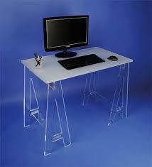 bureau plexi bureau plexi sur tréteaux