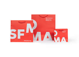Bag Design San Francisco Museum Of Modern Art 2016 Identity Fonts In Use