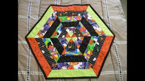 halloween hexagon table topper youtube