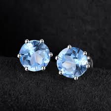 topaz earrings 925 sterling silve blue topaz earrings katha jewels