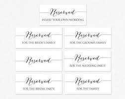 reserved signs for wedding tables reserved signs reserved wedding table signs rustic
