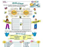 gender of nouns lesson plans u0026 worksheets reviewed by teachers