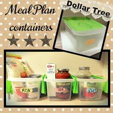 dollar tree hacks diy hack use dollar tree bins to contain the meals for the week