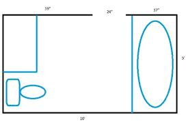 4 X 7 Bathroom Layout 5x10 Bathroom Floor Plan Hungrylikekevin Com