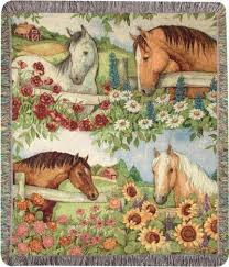 themed throws s throws carries a wonderful variety of equine themed cotton
