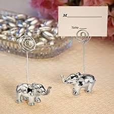 place cards silver finish elephant place card holders 1 party