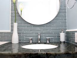 glass tile for bathrooms ideas glass tile backsplash in bathroom 4353