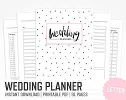 bridal wedding planner wedding binder etsy