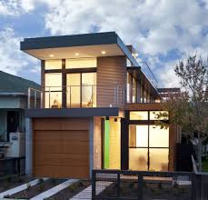 modern facade design house with garage design in basement house contemporary house with cool wood garage door