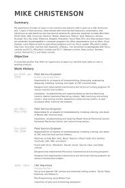 resume work history examples impressive field service engineer resume template sample featuring