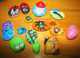 summer craft rock painting mommasays net