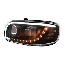 peterbilt 379 cab marker lights black projection led headlight peterbilt 389 388 367 567 elite