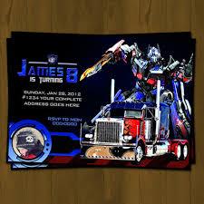transformers birthday optimus prime transformers birthday invitation on storenvy