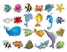 무료 물고기 아이콘 클립아트 일러스트 marine animal cartoon vector