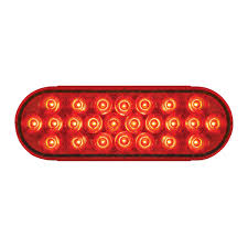 Red Led Light Bars by Stainless Steel One Piece Rear Light Bars With Oval 6 Lights In