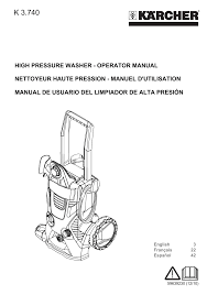 karcher k 3 740 user manual 64 pages also for k 3 740