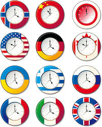 vector clocks in different countries free vector 4vector