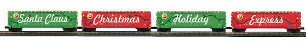 box car train 30 7088 4 car christmas boxcar led cp train mercer junction