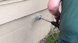 how to install bathroom vent fan drilling for a new bathroom vent through a block foundation youtube