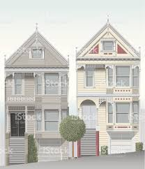 san francisco victorian homes stock vector art 165634202 istock