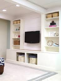 remodelaholic diy built in media wall unit with extra storage