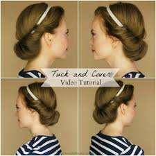 tuck in hairstyles headband hair tuck archives missy sue