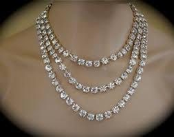 all swarovski crystal necklace images 3 strand crystal bridal statement necklace 8mm the crystal rose jpg