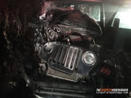 crashed jeep wrangler the lafayette underground daily update dec 4 2013 news