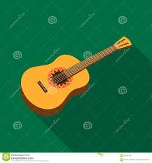 mexican acoustic guitar icon in flat style isolated on white