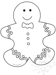 gingerbread man cutout template coloring page
