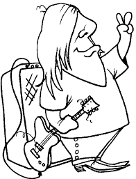 guitar player coloring pages rocker guitar player coloring page