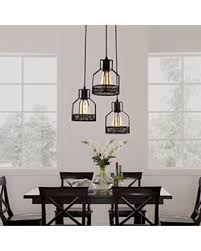 Metal Shade Pendant Light Slash Prices On Rustic Black Metal Cage Shade Dining Room Pendant