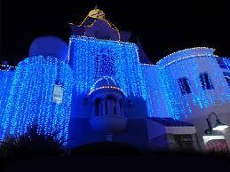blue outdoor lights sacharoff decoration