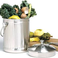 Compost Containers For Kitchen by Stainless Steel Compost Keeper Eartheasy Com