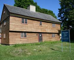 New England Saltbox House White Ellery House 1710 A Collection At The Cape Ann Museum