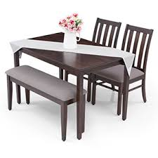 4 seater dining table with bench furniturekraft fk catalina 4 seater dining set with glass dining