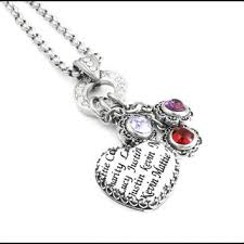 mothers necklaces with names and birthstones mothers bracelet childrens name jewelry from blackberrydesigns