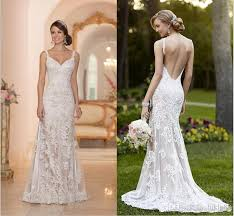 lace backless wedding dress stella york inspired ivory white lace wedding dresses 2015