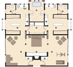 master bedroom floor plans with bathroom the master wing of this house is laid out to provide his and